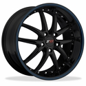 Corvette SR1 Performance Wheels - APEX Series : Gloss Black w/Blue Stripe