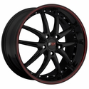 Corvette SR1 Performance Wheels - APEX Series : Gloss Black w/Red Stripe