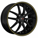 Corvette SR1 Performance Wheels - APEX Series : Gloss Black w/Yellow Stripe