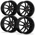 Corvette SR1 Performance Wheels - APEX Series (Set) : Gloss Black w/Silver Stripe