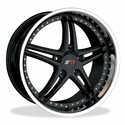 Corvette SR1 Performance Wheels - BULLET Series : Black Center w/Polished Lip