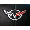 Corvette Steering Wheel Decal - Silver (97-04 C5 / C5 Z06)
