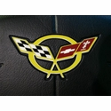 Corvette Steering Wheel Decal - Yellow (97-04 C5 / C5 Z06)