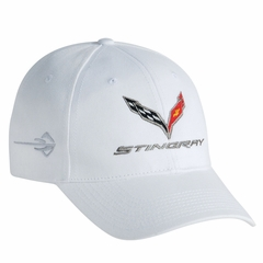 Corvette Stingray Cap Embroidered : Black, Blue, Red or White - 2014+ C7