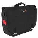 Corvette Stingray Messenger Bag with C7 Cross Flags Logo : 2014+ C7
