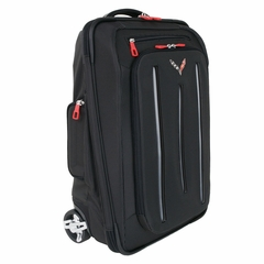 Corvette Stingray Roller Wheels Luggage with C7 Cross Flags Logo : 2014+ C7