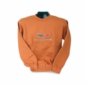 Corvette Sweatshirt Fleece Embroidered with C6 Logo - Copper (05-12 C6)