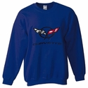 Corvette Sweatshirt Fleece with C5 Logo - Navy Blue (97-04 C5)