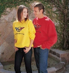Corvette Sweatshirt Fleece with C5 Logo - Yellow (97-04 C5)