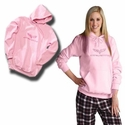 Corvette Sweatshirt Hoodie - Heavy Weight Pink w/Pocket and C6 Emblem : 2005-2013 C6