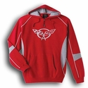 Corvette Sweatshirt Hoodie - Red Quarter-Zip 1997-2004 C5