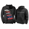 "Corvette Sweatshirt ""Nothing but Corvette"" Hoodie - Black"