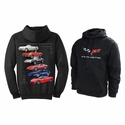 "Corvette Sweatshirt ""Nothing but Corvette"" Hoodie - Embroidered - Black"