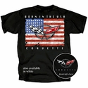 "Corvette T-Shirt - ""Born In the USA"" with C5 Logo - Black"