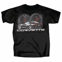 Corvette T-shirt Speed C6 - Black