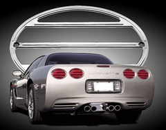 Corvette Taillight Bezel Set - Billet Aluminum Chrome (97-04 C5 / C5 Z06)