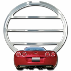 Corvette Taillight Bezels - Billet Chrome 4 Pc. Plain (05-13 C6 / C6 Z06)