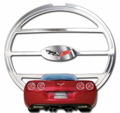 Corvette Taillight Bezels - Billet Chrome 4 Pc. with C6 Emblem (05-13 C6 / C6 Z06)