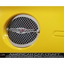 Corvette Taillight Grilles - Executive Style Laser Mesh- 4 Pc. Set - Polished Stainless Steel : 1997-2004 C5 & Z06