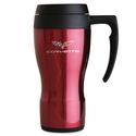 Corvette Travel Mug with C6 Logo - Red (05-11 C6)