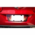 Corvette True Fire Rear License Plate Frame - Custom Airbrushed : 2005-2013 C6