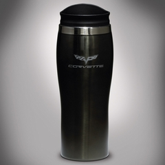 Corvette Tumbler - On-The-Go Thermal Tumbler with C6 Logo : 2005-2013 C6