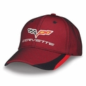 Corvette - Twill & Mesh - Embroidered C6 Logo Cap 2005-2013 C6