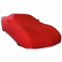 Corvette Ultraguard Stretch Satin Car Cover - Red - Indoor