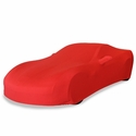 Corvette Ultraguard Stretch Satin Car Cover- Red - Indoor