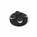 Corvette Valve Stem Cap - Black - 4 Pieces : 2014 C7