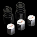 Corvette Valve Stem Caps - Theft Deterrent : 2005-2013 C6
