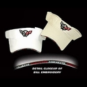 Corvette Visor : Embroidered Bill C5 Logo - White