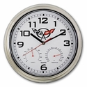 Corvette Wall Clock / Weather Station with C5 Emblem (97-04 C5) -  20229
