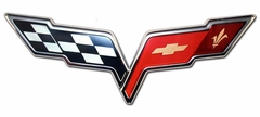 "Corvette Wall Sign - C6 Emblem 32""x12"" (05-12 C6)"