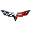"Corvette Wall Sign - C6 Emblem 32""x12"" (05-12 C6) -  COR14"