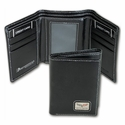 Corvette Wallet - C6 Men's Leather Tri-Fold - Black -  MH-1533