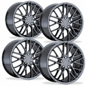 Corvette Wheel - 2009 ZR1 Style Reproduction (Set) : PVD Black Chrome