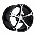 Corvette Wheel - 2010 Grand Sport Style Reproduction - Black W/Machined Spokes