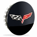 Corvette Wheel Center Cap - Black GM (08-13 C6 / C6 Z06 / C6 ZR1)