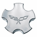 Corvette Wheel Center Cap - Chrome Embossed (00-04 C5)