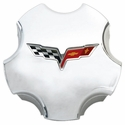 Corvette Wheel Center Cap - Chrome GM (05-13 C6)