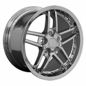 Corvette Wheel Package C6Z06 Style Deep Dish Wheels - Chrome w/Rivets (05-12 C6)
