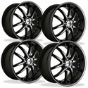 Corvette Wheel Package - SR1 APEX Black Chrome 1 Piece Aluminum (97-12 C5 / C5 Z06 / C6)
