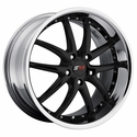 Corvette Wheel Package - SR1 APEX Black Face / Polished Lip 1 Piece Aluminum (97-12 C5 / C5 Z06 / C6)