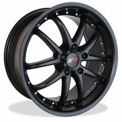 Corvette Wheel Package - SR1 APEX Semi-Gloss Black 1 Piece Aluminum (97-12 C5 / C5 Z06 / C6)