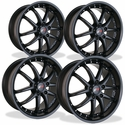 Corvette Wheel Package - SR1 APEX Semi-Gloss Black Set (97-12 C5 / C6)