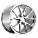 Corvette Wheels - 2009 C6Z06 Spyder Style Reproduction : Chrome