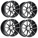 Corvette Wheels (Set) - Cray Spider - Gloss Black w/ Mirror Cut Face