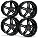 Corvette Wheels - SR1 Performance Wheels / BULLET Series (Set) - Gloss Black : C5,C6