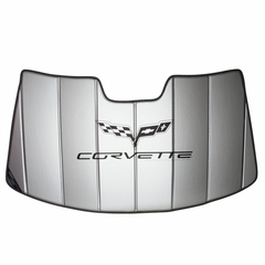 Corvette Windshield Sunshade - Insulated w/ C6 Logo (05-13 C6/Z06/ZR1/Grand Sport)